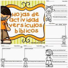 Hojas de actividad versículos bíblicos: