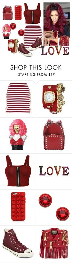 """Red & Sexy"" by princess-imani-tyler on Polyvore featuring House of Holland, La Mer, Nicki Minaj, Valentino, WearAll, Dot & Bo, Marc Jacobs, Givenchy, Converse and Moschino"