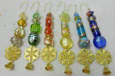 Christmas Filigree and Bell Ornaments, Handmade Ornament Set
