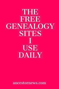 Free genealogy is alive and well The 13 free sites I've used for years to do my genealogy research. Free genealogy is alive and well The 13 free sites I've used for years to do my genealogy research.