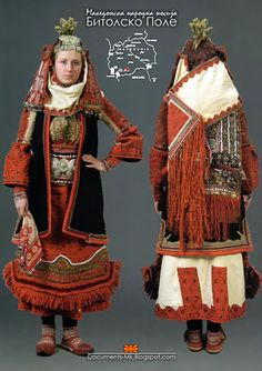 Amazing texture, layers  Previous Pinner: Women's costume from Bitolsko Pole