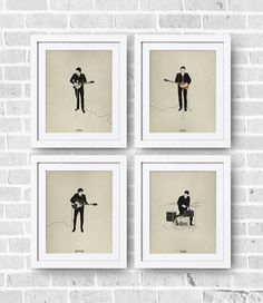 The Beatles Minimalist Set 8x10 Print The Beatles by DIGIartisan, $25.00