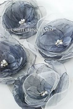 Organza Flowers: a Tutorial