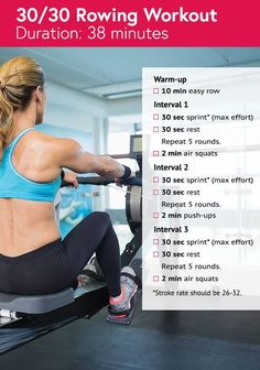 Rowing Workout HIIT Sprints