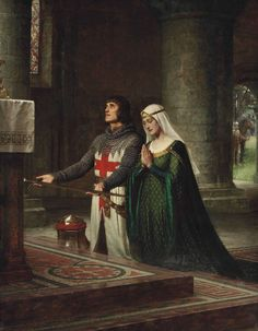Edmund Blair Leighton (1853 - 1922)  - The Dedication, 19