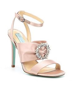 db2121d19 Blue by Betsey Johnson Scoti Satin Rhinestone Ornament Ankle Strap Dress  Sandals Women s Shoes Sandals
