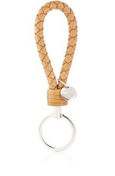 Bottega Veneta Intrecciato Loop Key Chain at Barneys New York