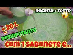 20 LITROS DE DESINFETANTE COM 1 SABONETE + ALGUNS INGREDIENTES. INCRIVEL... - YouTube