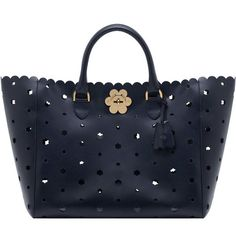 Mulberry - Cut out Flower Tote in Navy Classic Saddle from the Cecily range  - i love the gold daisy detail f7837713aa13f
