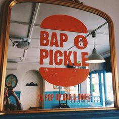 Bap & Pickle Pop Up Bar, Bap, Places To Eat, Pickles, Things To Do, Neon Signs, London, Gifts, Things To Make