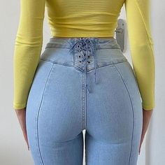 Stylish Back Bandage Blue Y2K Flare Jeans Female Fashion Chic 2021Denim Pants For Women High Waisted Trouser Capris Streetwear Jeans  - AliExpress Skinny Flare Jeans, Flare Pants, Streetwear Jeans, Sweet Jeans, Pants For Women, Clothes For Women, Vintage Pants, Cute Casual Outfits, Girl Outfits