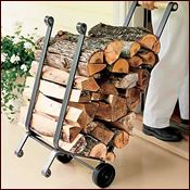 Shop the best selection of firewood racks & wood carriers online. Easily store, season, and transport your firewood. Indoor and outdoor firewood racks available. Outdoor Firewood Rack, Firewood Holder, Firewood Storage, Industrial Interior Design, Vintage Industrial Decor, Industrial Interiors, Metal Projects, Welding Projects, Diy Welding