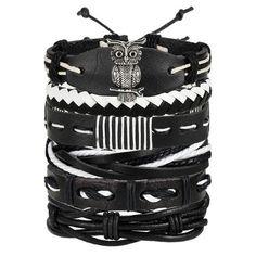 6 Design Vintage Multilayer Leather Bracelet For Men 2019 Handmade Wristband Bracelet Punk Rope Jewelry Wrap Bracelets & Bangles Bracelets Wrap En Cuir, Leather Charm Bracelets, Bracelet Cuir, Braided Bracelets, Bracelets For Men, Fashion Bracelets, Bangle Bracelets, Leather Jewelry, Fashion Jewellery