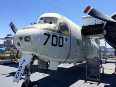 This was the crew's favorite plane, as it brought food and letters from home #LosAngeles #USSMidway #California #USA #RTW #JulesVernex2