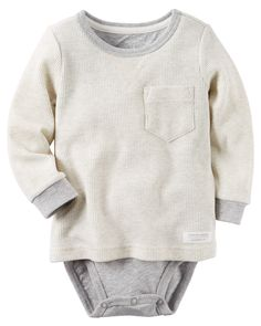 Baby Boy Layered-Look Bodysuit from Carters.com. Shop clothing & accessories from a trusted name in kids, toddlers, and baby clothes.