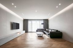 Modern Ceiling, House Wall, Terrace, Flooring, Interior Design, Space, Table, Furniture, Home Decor