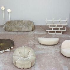 Pierre Paulin - Furniture designed for the Elysee Palace, 1970s // #pierrepaulin #artsxdesign