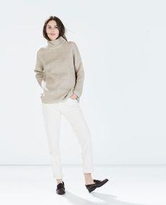 Image 1 de PULL EXTRA-LARGE BICOLORE de Zara