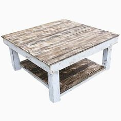 Custom Made Shabby Farmhouse Reclaimed Wood Coffee Table