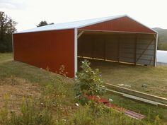 Hay Storage Shed - 40x60x14  www.nationalbarn.com