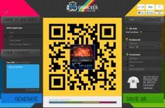 A well made and versatile QR code maker. Change colours and embed a logo into the code in a few easy steps.