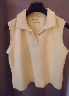 A vendre sur #vintedfrance ! http://www.vinted.fr/mode-femmes/debardeurs/19844712-debardeur-polo-jaune-manches-courtes