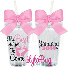THE BEST IS YET TO COME TUMBLER MATERNITY, NEW MOM, BABY SHOWER GIFT LYLABUG DESIGNS