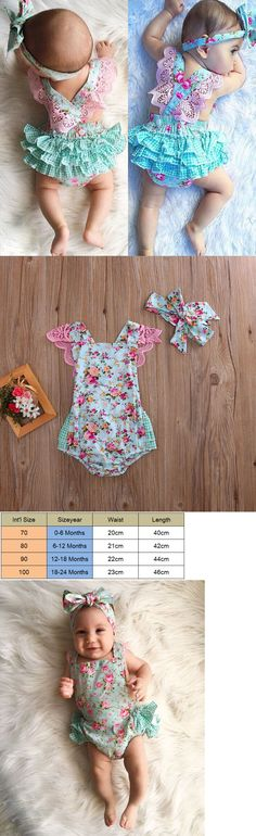Baby Girls Clothing: Newborn Infant Kids Baby Girl Floral Clothes Jumpsuit Romper Sunsuit Outfits Set -> BUY IT NOW ONLY: $7.59 on eBay!