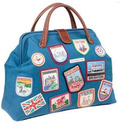 I collect souvenir patches from all over the world! Nana put them on all her grandkids duffle bags!