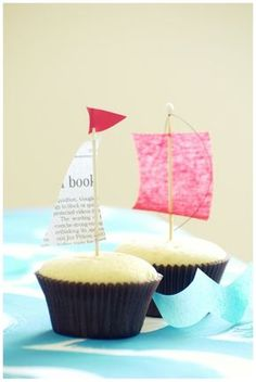 cupcake boats