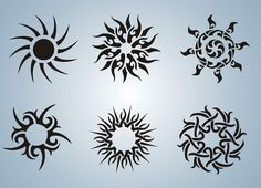 Sun Stencils Tattoo Stencil Design from Stencil Kingdom