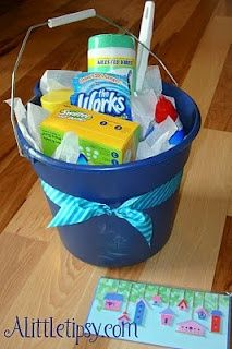 fabulous new home gift idea....a cute bucket and cleaning products!