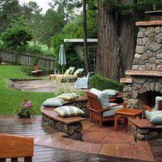 Beautiful backyard.  Dreaming...