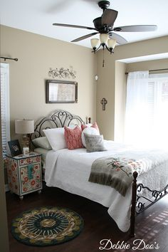 Boho Chic Guest Room Refresher | #homegoodshappy bedding and accessories create a warm, welcoming space!