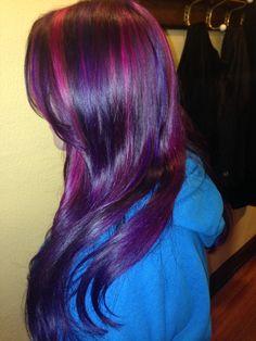 Vivid violet, magenta and purple hair by Adeline Hutmacher
