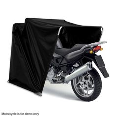 Folding motorcycle covers bike home barn shed uk on - Motorcycle foldable garage tent cover ...