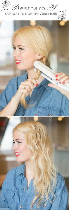If you want your straight hair to be soft curly hair, just try this way, using the Lena iron curly is so nice!