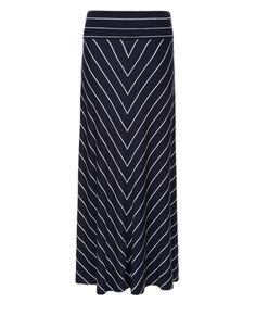 Sinata Stripe Maxi Skirt | Navy | Monsoon