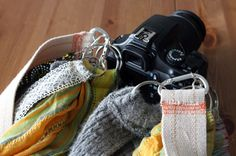 DIY Chic Custom Camera Strap | Brit + Co. - I've some special camera straps (for ex. from couch+strap). But you can also make them very easy yourself. And so you'll have the right strap for the right event. :)