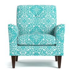 Handy Living Alex Turquoise Damask Arm Chair | Overstock.com Shopping - The Best Deals on Living Room Chairs