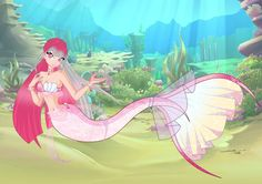 [Gift] Rosella Mermid by SperoNoxStella on DeviantArt Mermaid Melody, Mermaid Art, Mermaid Barbie, Fairy Tail Nalu, Mermaid Coloring, Kawaii, Merfolk, Sea World, Winx Club
