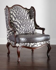 Zahara Leather Chair by Massoud at Horchow.