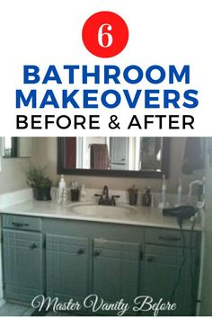 Check out these creative and cheap bathroom updates. The before and after photos are inspiring so go ahead and plan your master bathroom, guest bathroom makeover project. #hometalk Cheap Bathrooms, Small Bathroom, Master Bathroom, Small Space Storage, Small Space Organization, Diy Beauty Projects, Rustic Vanity, Bathroom Updates, Mosaic Backsplash