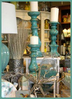 Seaside cottage decor; love the color!