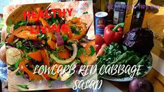 Red cabbage salad is very rich in anti oxidants. Red Cabbage Salad, Keto Meal, Meal Ideas, Celery, Keto Recipes, Healthy Living, Stuffed Peppers, Meals, Make It Yourself