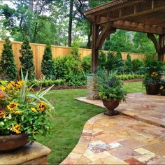 Evergreen Backyard Landscape