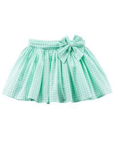 Toddler Girl Gingham Poplin Skirt | Carters.com