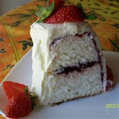 Homemade Angel Food Cake Allrecipes.com  Today I am making this with my 12 year old and 3 year old.