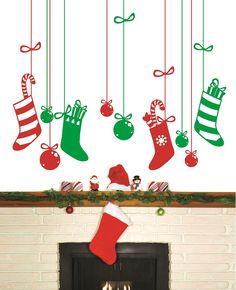 Vinilos navideños en Myvinilo.com - http://decoracion2.com/vinilos-navidenos-en-myvinilo-com/66398/ #DecoracionDeNavidad, #VinilosDecorativos, #VinilosNavideños
