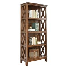 Burkesville Large Bookcase Medium Brown - Signature Design by Ashley : Target